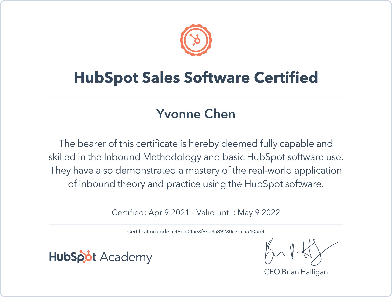 hubspot-sales-software-certified_yvonne